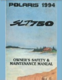 Polaris 1994 SLT750 PWC Owners Manual